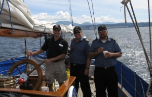 I was invited to be a guest on the HMCS Oriole (part of the Canadian Navy in Esquimalt, BC) when it came to Powell River.